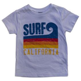 0b9023b8d5d5a Sol Baby Surf California Stripe Wave Blanco Tee-18m-blanc