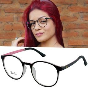bb4a5bde8bc72 Geek Charming Armação Para Óculos De Grau Retrô Ray Ban - Óculos no ...