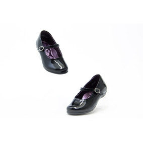 Zapatos Escolar Bonito Niña Hush Puppies 58304 Negro Charol