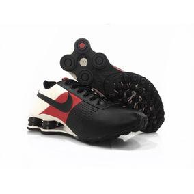 a63f44bb4a Nike Shox R4 Preto E Prata Molas Vermelhas Cromado - Tênis no ...