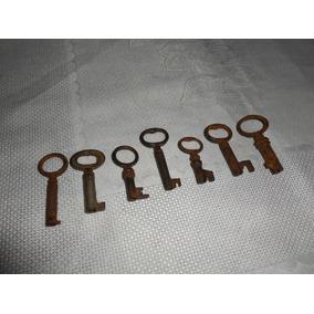 7 Antigas Chaves De Ferro Caixa E Bau Md5