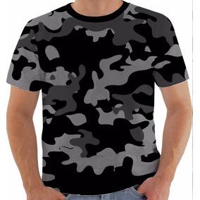 Camuflagem Cinza - Camisetas Manga Curta no Mercado Livre Brasil c477fedadf2