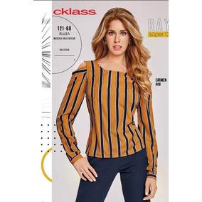 Blusa Cklass Mostaza 121-60 Otoño Invierno 2018 Nueva