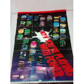 Console Nintendo - Somente Encarte Poster De 1990 - Raro!