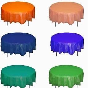 Mantel Redondo De Plástico En Colores Sólidos