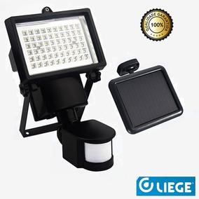 Refletor Solar 60 Leds Sensor De Movimento Liege Luz Fria