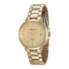47314f0558f Seculus Long Life Feminino Dourado - Relógio Seculus Feminino no ...