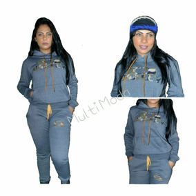 Conjunto Moletom Feminino Oakley Casaco Blusa Calça Moleton 79f23531079
