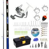 Kit Caja + Accesorios Pesca Kunnan Icaro 2.70m + Reel 4001