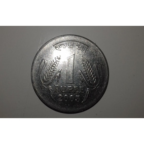 Moeda Rara 1 Rupee Índia Mbc 2003 Colecionador Numismática