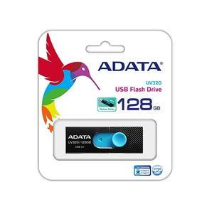 Adata Memorias Usb Portatil 128gb Retractil 3.1 Uv320 Azul