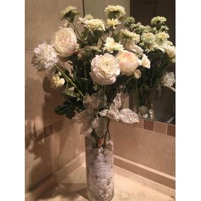 Flores Blancas Artificiales Flores Artificiales En Mercado Libre