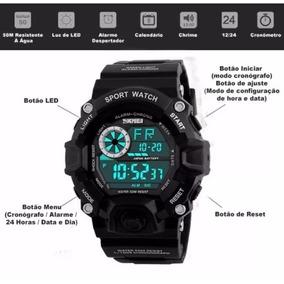 Relógio Masculino Esportivo G-shock Digital Skmei+brinde