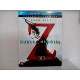 Blu-ray 3d + Blu-ray Guerra Mundial Z.(com Luva/ De Coleção)