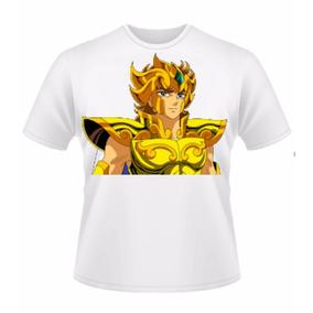Camiseta Masculina Aiolia De Leão Cavaleiros Do Zodiaco 3983e410ab27e