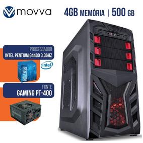 Computador Gamer Intel Pentium G4400 3.3ghz Mem 4gb Hd 500gb