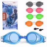 Kit 6 Óculos Adulto Natação C  Protetor Ouvido Piscina Pvc d4976241199ad