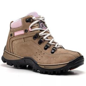 Boot Coturno Adventure Feminino Couro Nobuck Marrom Ou Areia 0c7dfed1133