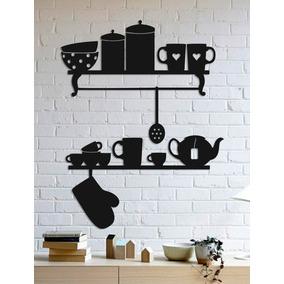 Quadro Decorativo Parede Cozinha Utensílios 30cm