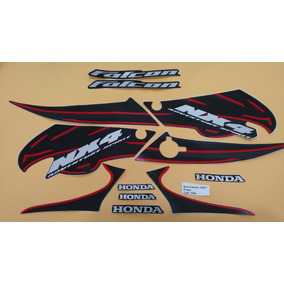 Adesivo Nx4 Falcon 2007 Preto Original - Frete R$9.90