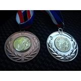 Medallas Deportivas 50mm Grabadas En Relieve Y Con Cinta