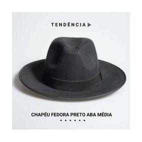0d612cd4585d1 Chapeu Fedora Aba Media - Chapéus Fedora no Mercado Livre Brasil