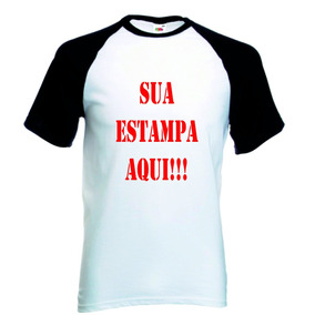 Camiseta Raglan Branca Personalizada Sua Estampa 77ea4d88bd8