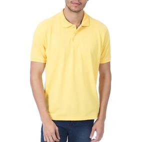 Camisa Polo Colombo Masculina Amarela Lisa 37459 por Camisaria Colombo 5f0906c02ce6a