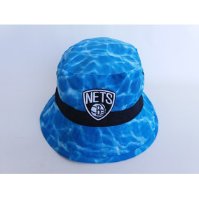 6c0d3f1441e32 Bucket Hat Mitchell   Ness Brooklyn Nets Chapeu Original