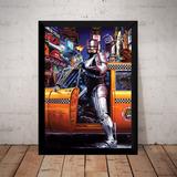 bafe1f72363 Quadro Filmes Classicos Anos 80 Robocop Arte Poster Moldura
