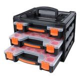 Gavetero Organizador Caja Tactix 320040 3 Maletas 15div C/u