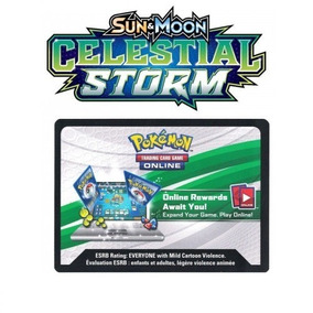 65 Códigos Booster Pokemon Tcg Online Celestial Storm Sm7