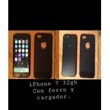 iPhone 7 32gb Con Forro, Protector De Pantalla Y Cargador