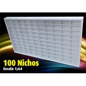 Estante Expositor (100 Nichos) Hot Wheels - Pintura Acrilica