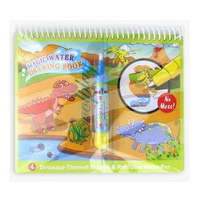Livro Infantil Para Pintar Com Água Reutilizavel