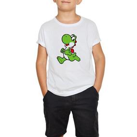 Playera Yoshi Mario Bros Niño Niña