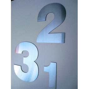 Números Acero Inoxidable 15 Cm Dirección Frente Casa X 4 Un.