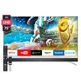 Smart Tv Led 75 Tcl L75c2 4k Uhd Netflix Android Hdmi **7