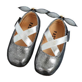 Toddler Girl Cross Strap Princess Mary Jane Ballet Flat D.. 9d935608e3d