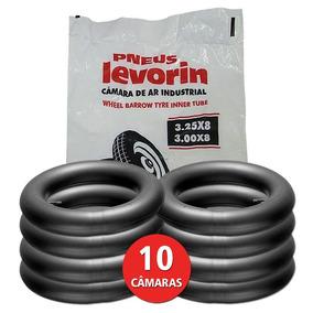 Kit 10 Câmara De Ar 3,25x8 Carrinho Mão Carriola Levorin