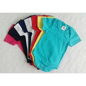 Body Infantil Bebê Liso - P Ao G - 100% Algodão - Kit Com 15