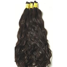 Cabelo Humano Natural Mega Hair Ondulado 50/55 Cm -100gr