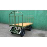 Carro Plataforma 800 Kgs 02 Abas Assoalho Madeira