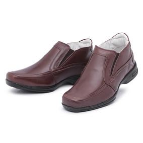 Sapato Social Antistress Couro Tamanhos Grandes 39 Ao 46