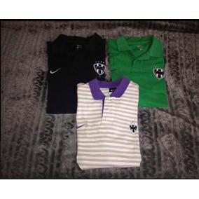 f73ab5266766a Lote De 3 Playeras Nike Polo Rayados De Monterrey Talla L
