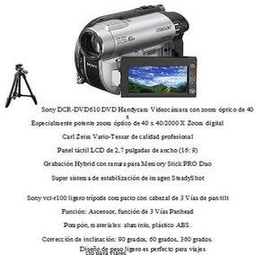 Sony Dcr Dvd 610 Dvd Handy Cam Video Zoom Optico +tripode