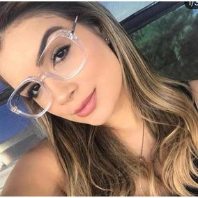 705cde1501fc6 Armacao Feminina Retangular Grande - Óculos no Mercado Livre Brasil
