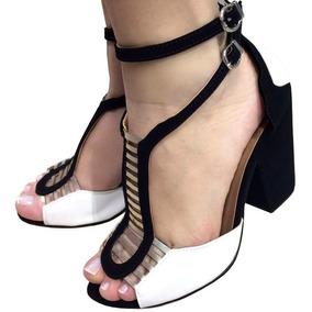 8a3e8b345 Sandália Gladiador Baixa Branca 100 ab bucket  Feminino - Sapatos ...