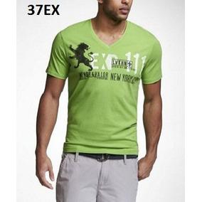 L - Playera Express Verde P37ex Ropa Hombre 100% Original 0f46d95c8e05e