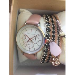 f4fe00b905c Relogio Feminino Dourado Aeropostale - Relógios no Mercado Livre Brasil